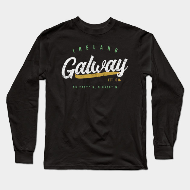 410da77de8f Galway Ireland Travel Vintage T-Shirt - Ireland - Long Sleeve T ...