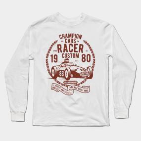 0cd810f8a VINTAGE CAR T-SHIRT Champion Cars Racer Long Sleeve T-Shirt