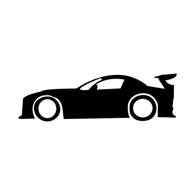 Drift Car Silhouette