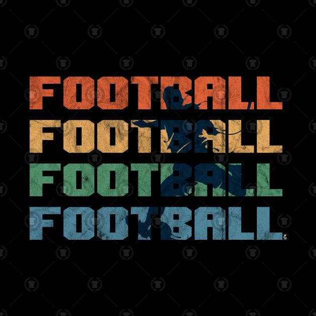 Vintage Retro Football Soccer Kicker Goal
