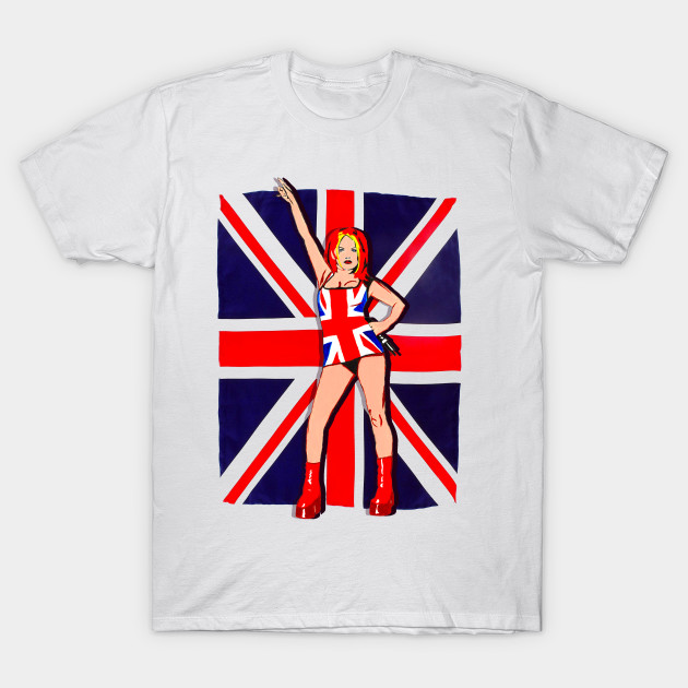 ca08bb40d Ginger Spice Union Jack - Spice Girls - T-Shirt | TeePublic