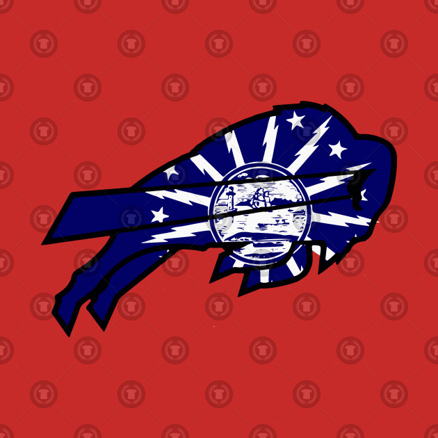 City of Buffalo Flag in Bills Logo