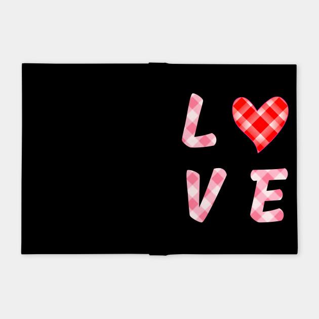 Red love heart Valentine's day gift