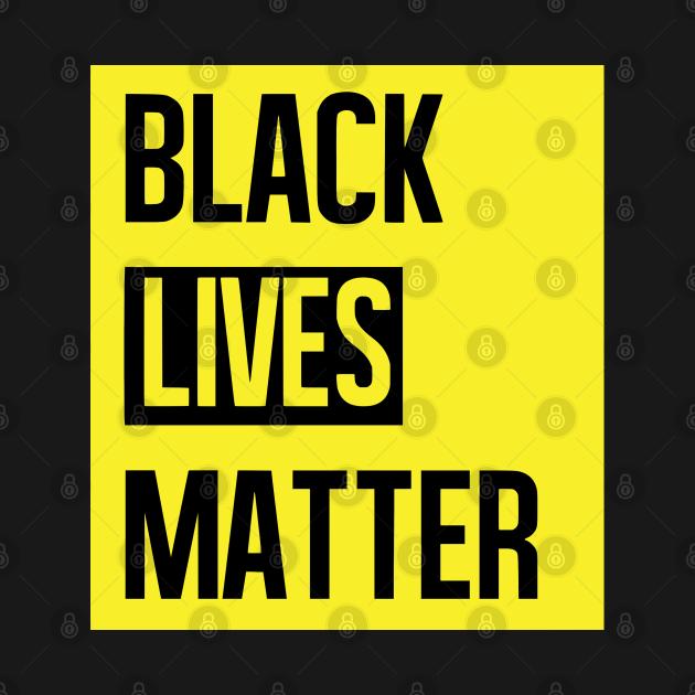 Black Lives Matter Yellow Background, TPSSG
