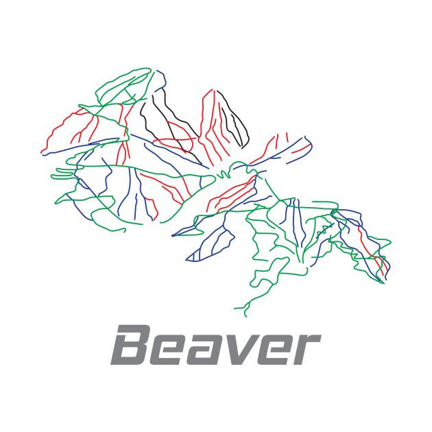 Beaver Colorado Ski Pist Map