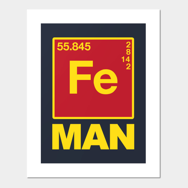 Iron Man Chemical Symbols Iron Man Posters And Art Prints