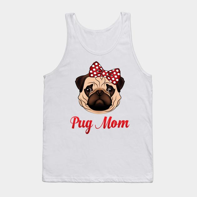 Pug Face Tank Top Funny Pet Dog Muscle Shirt