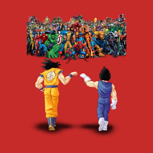 Goku Amp Vegeta Vs Marvel Universe Dragon Ball T Shirt