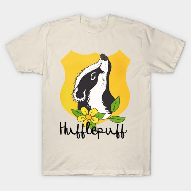 619e53fe Hufflepuff Floral Crest - Hufflepuff - T-Shirt   TeePublic