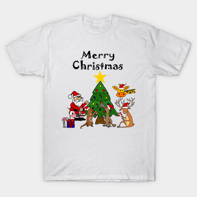 6df1709da68c Funny Santa Claus and Friends Christmas Cartoon - Christmas - T ...