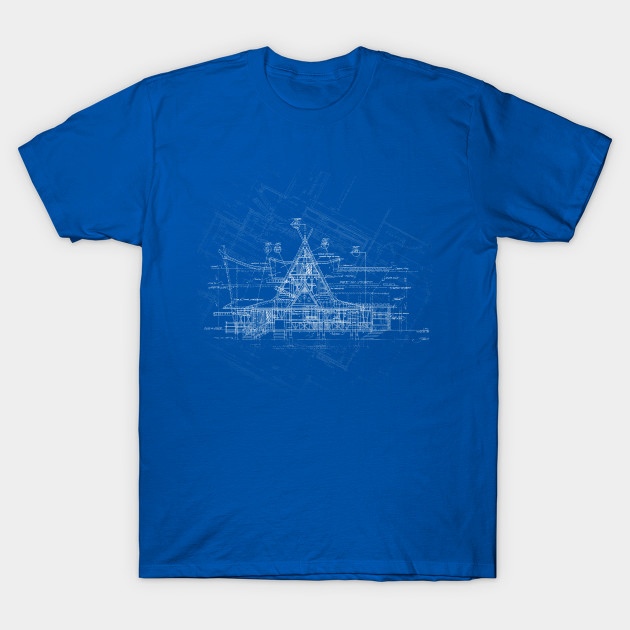 Tiki room blueprint disney t shirt teepublic 881940 2 malvernweather Choice Image