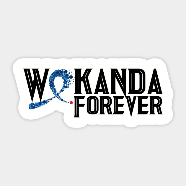 Black Panther Inspired Wakanda Forever Rest In Peace Black Font Black Panther Sticker Teepublic