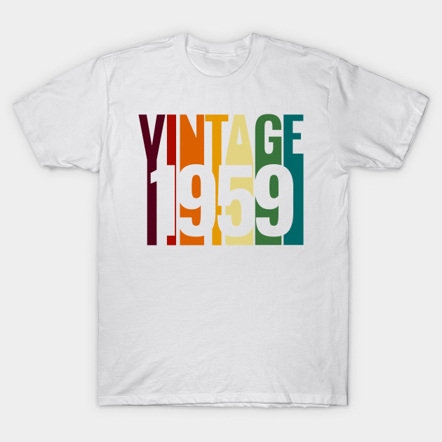 Vintage 1959 60th Birthday For Woman Or Man T Shirt