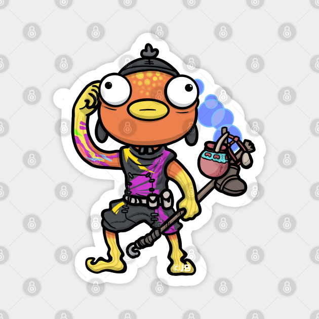 Fish Guy in Black and Purple outfit
