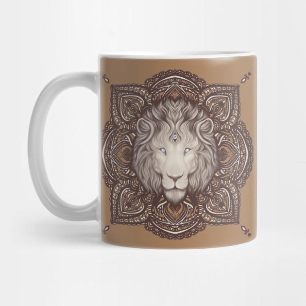 Lion Mandala Woke Lion Lion Portrait Mug Teepublic