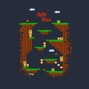 Alex Kidd in Miracle World t-shirts