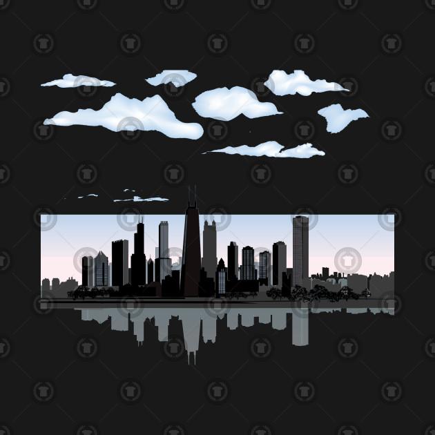 Chicago Skyline Reflection In Water