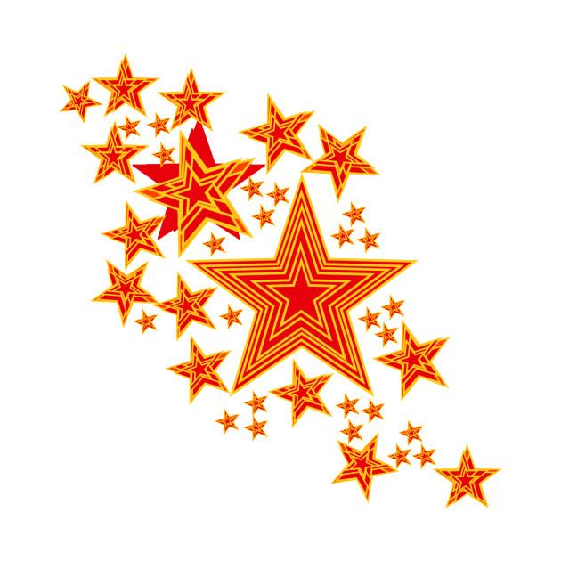 Red & orange stars