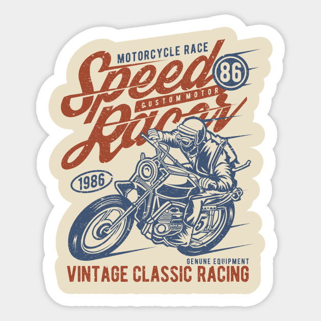 Vintage Classic Racing Motorcycle Design Motorcycle Sticker