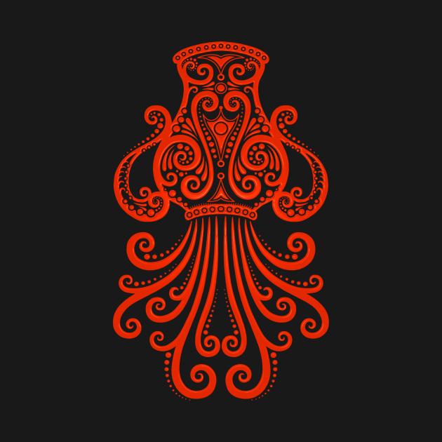 Red Aquarius Zodiac Sign