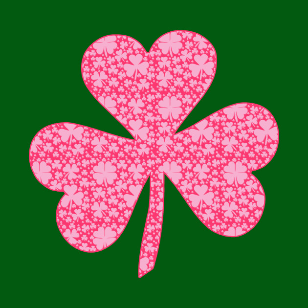 Pink Shamrocks for St Patricks Day