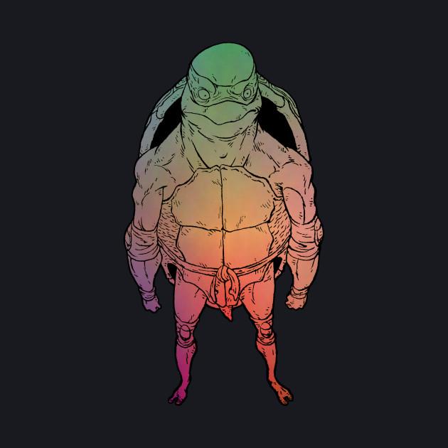 Mutant Rainbow Ninja Turtle