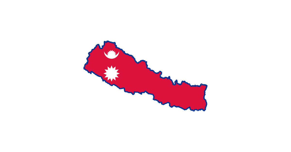 LIMITED EDITION. Exclusive Nepal Map Flag by phopumpnaceldesign