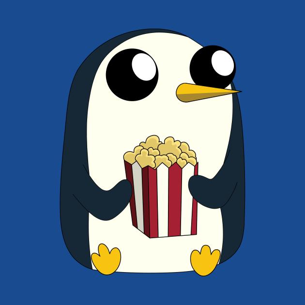 Gunter loves popcorn!
