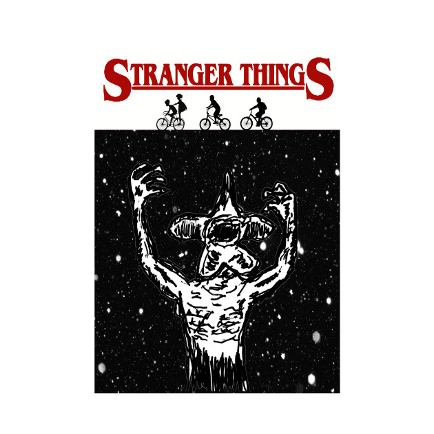 Stranger Things - JAWS style Demogorgon - Friends Don't Lie