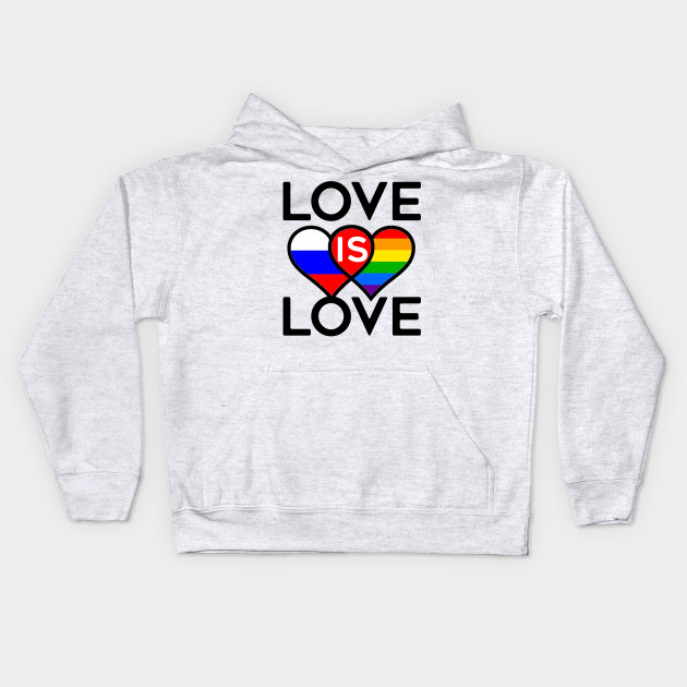 LOVE IS LOVE GAY PRIDE FLAG RUSSIA FLAG