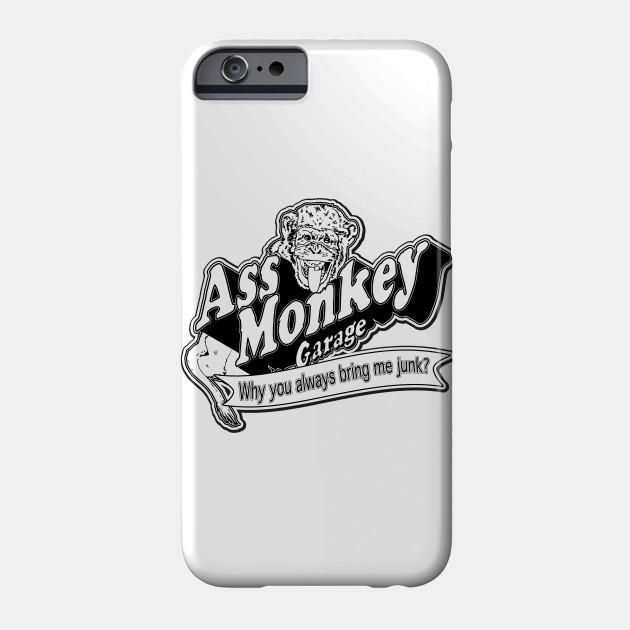abc78ec118a Ass Monkey Garage - Television - Phone Case