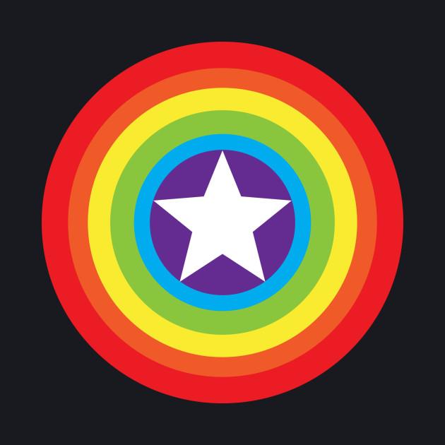Captain Gay Pride Shield