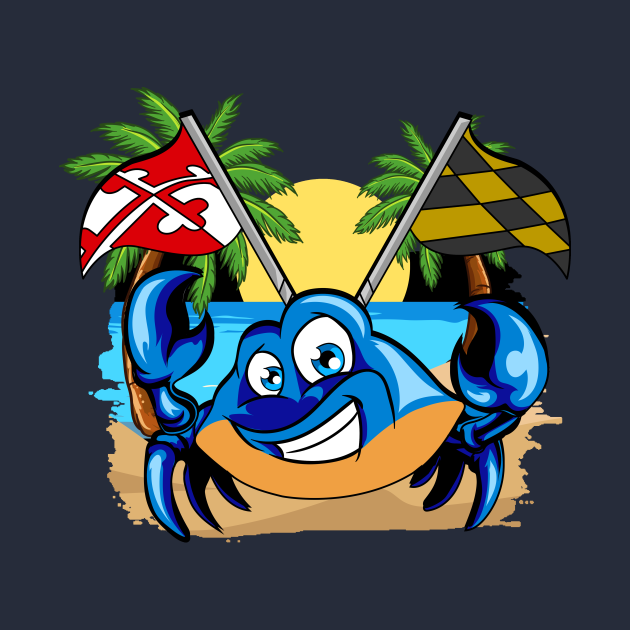 Maryland Day State Flag Blue Crab