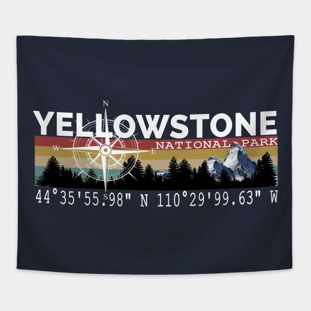 Yellowstone National Park With Gps Location Design