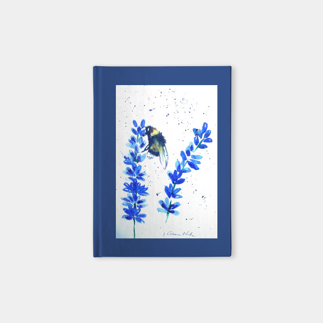 Bumble bee and Blue flowers
