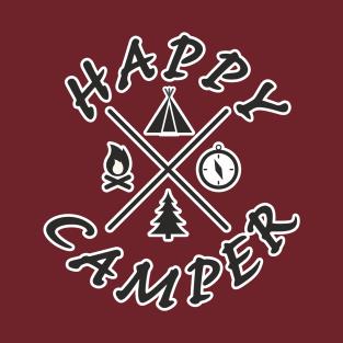 8ec90eaf Happy Camper Design Art Gift for Camping Lovers T-Shirt