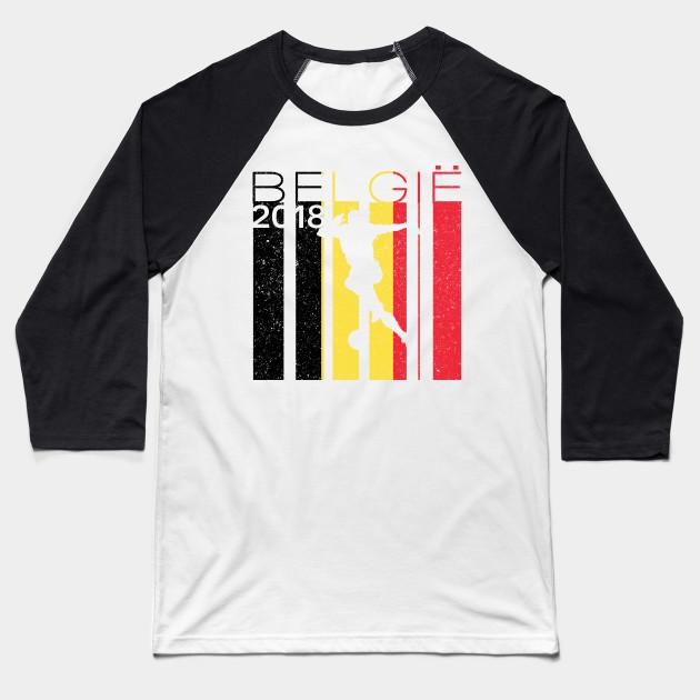 Belgium Football 2018 Jersey Belgian Soccer - Belgium - Baseball T ... f58e2f3c0