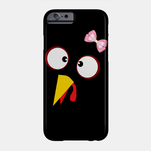 fb3469fd Turkey Face Girl Pink Bow Shirt Funny Thanksgiving GIFT IDEA Phone Case
