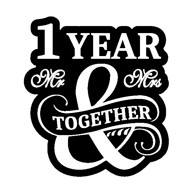 1st Wedding Anniversary Shirt 1 Year Mr Mrs 1st Wedding Anniversary Gifts Aufkleber Teepublic De
