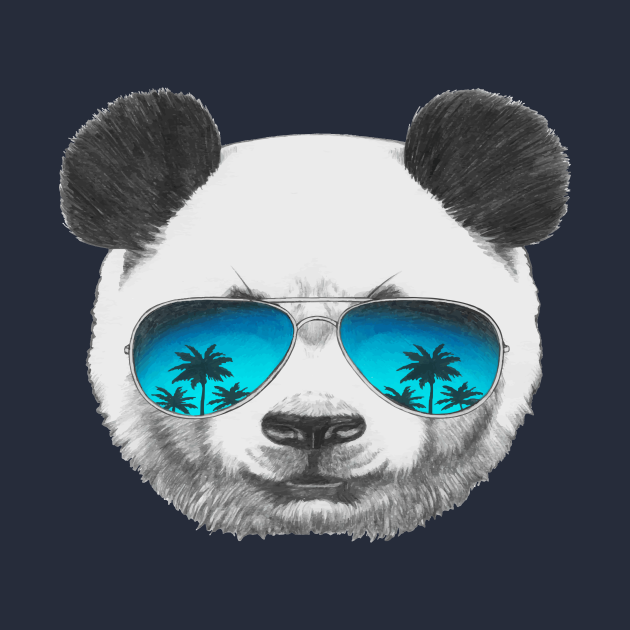 Cool Panda wearing sunglasses