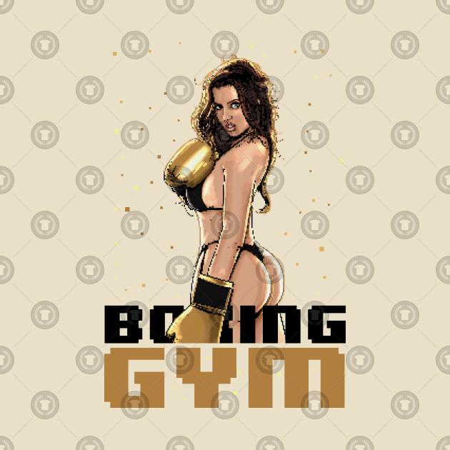 Boxing Gym 8bit Pixelart