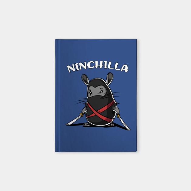 Ninchilla Funny Chinchilla Ninja Cute Pet Samurai