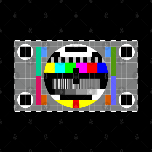 Monoscope tv test pattern card