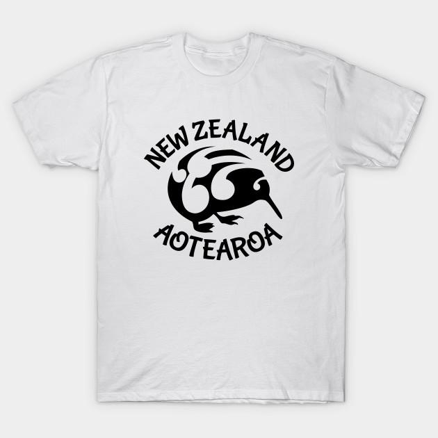94d792312 KIWI Aotearoa New Zealand - New Zealand Inspired Design - T-Shirt ...