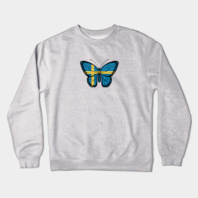 944783a5 Swedish Flag Butterfly - Sweden - Crewneck Sweatshirt | TeePublic