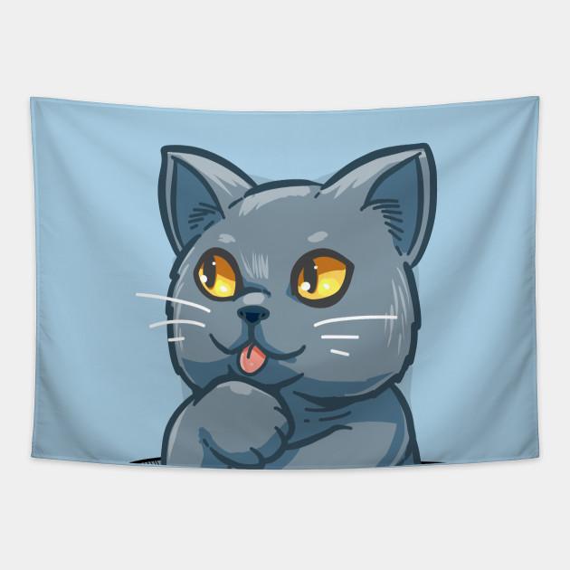 Pocket Cute British Shorthair Cat British Shorthair Tapestry