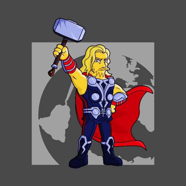 thor funny cartoony avenger