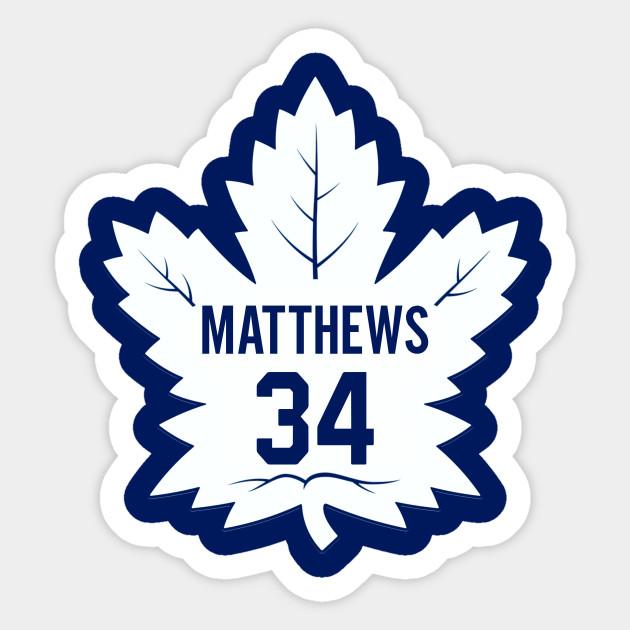 Maple Leafs Matthews Toronto Maple Leafs Sticker Teepublic