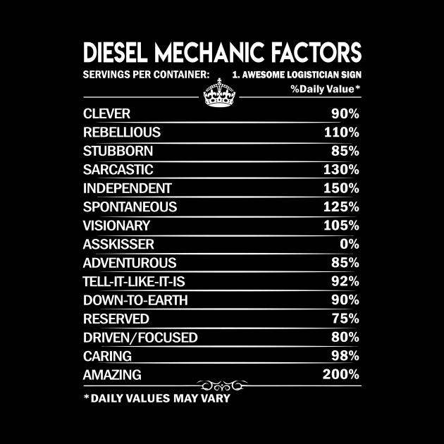 Diesel Mechanic T Shirt - Diesel Mechanic Factors Daily Gift Item Tee