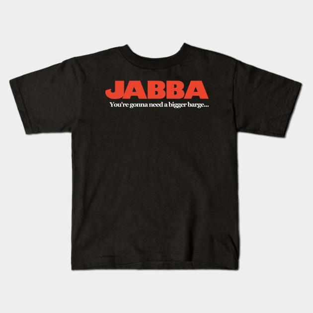 03c7cdbd Jabba / Jaws Mash Up - Funny Star Wars - Kids T-Shirt   TeePublic